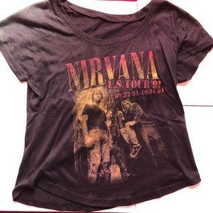 Nirvana Cropped T-shirt